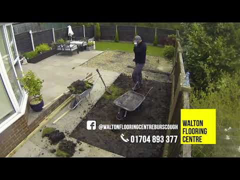 Artificial Grass Installation with Ground Works [Burscough timelapse]