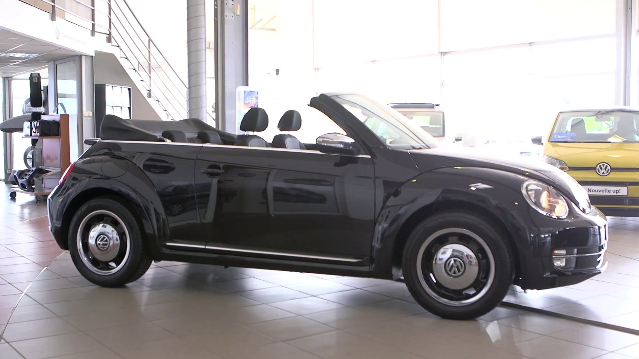volkswagen coccinelle cabriolet 1 4 tsi 150 bmt dgs7 dune noir intense youtube. Black Bedroom Furniture Sets. Home Design Ideas
