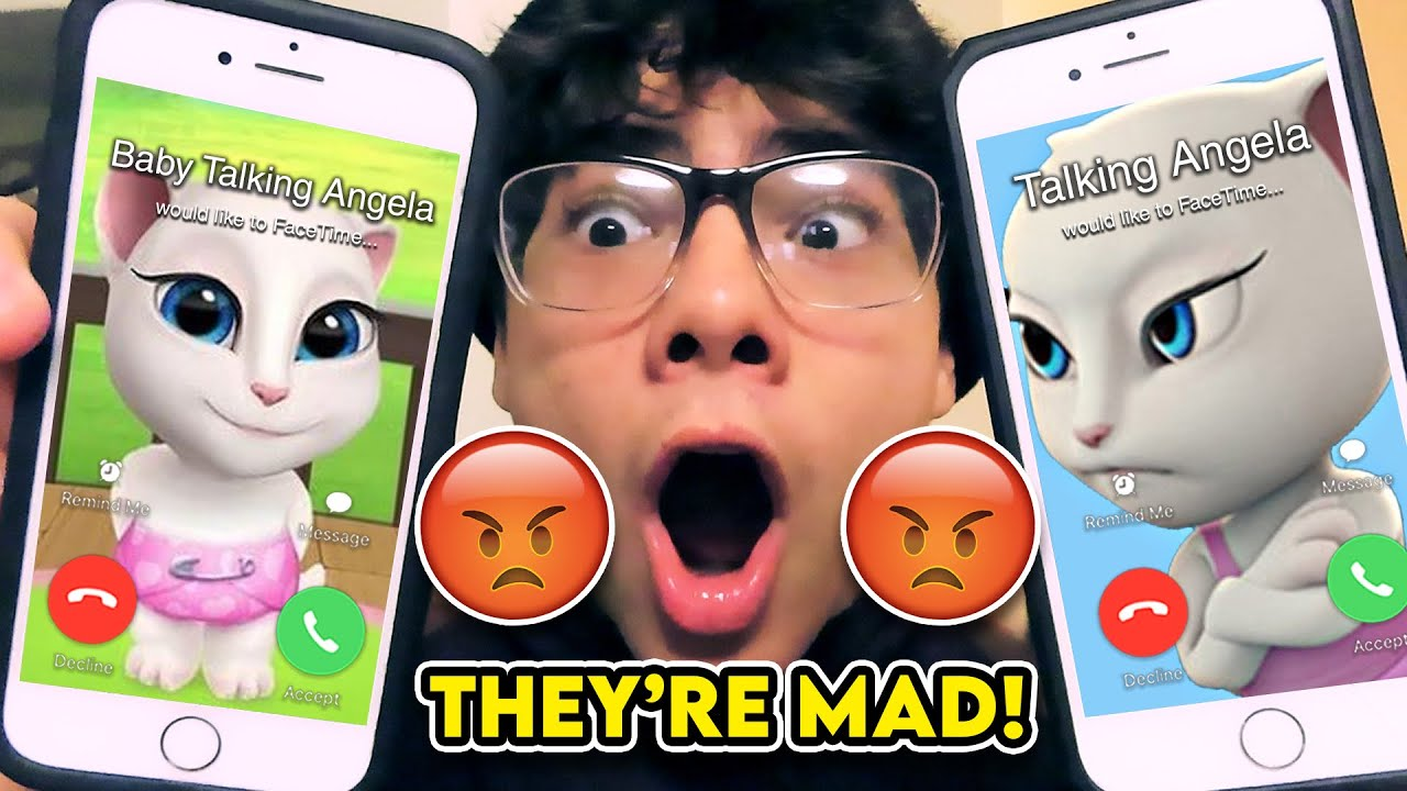 DO NOT FACETIME BABY ANGELA AND TALKING ANGELA AT THE SAME TIME!! *THEY GOT MAD*