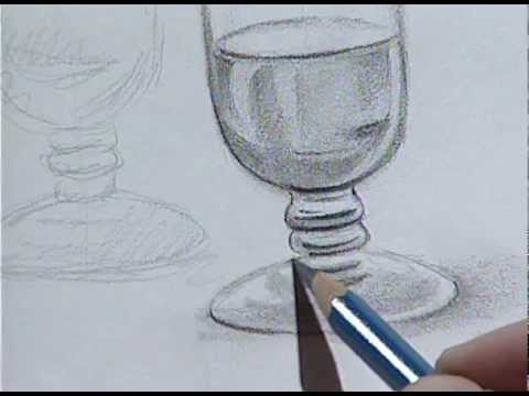 How to draw a wine glass 2 c mo dibujar una copa de for Tipos de copas