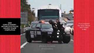 2020 COPS VS BIKERS - MOTORCYCLE POLICE ESCAPE / CHASE COMPILATION