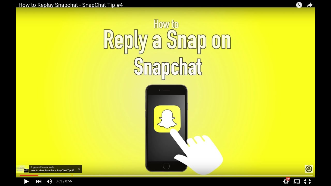 How to Replay Snapchat - SnapChat Tip #4 - YouTube
