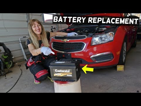 CHEVROLET CRUZE BATTERY REPLACEMENT. HOW TO REPLACE CAR BATTERY