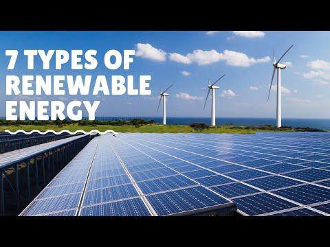 7 Types of Renewable Energy