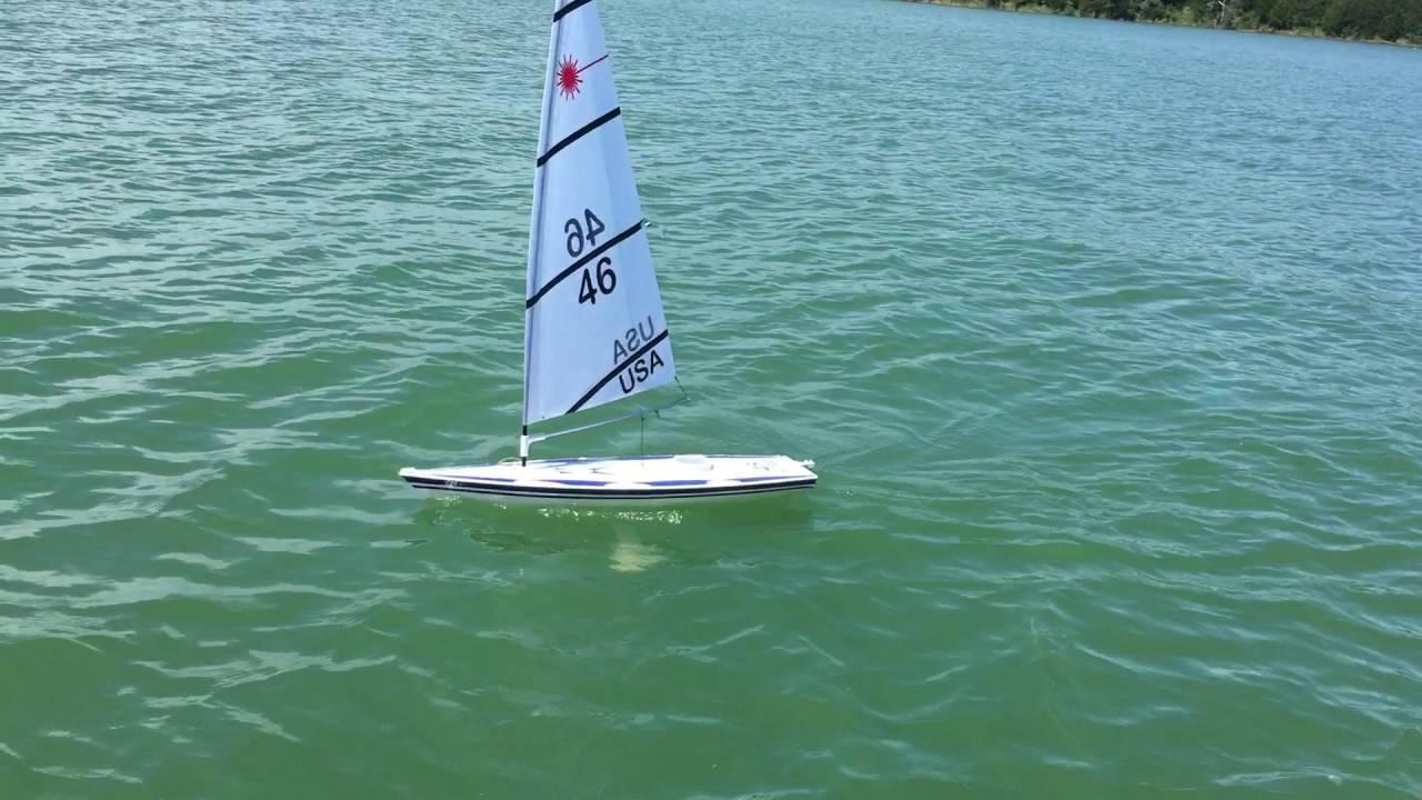 Rc Laser Sailboat Youtube