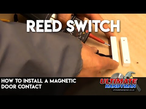 How to install a magnetic door contact | Reed switch