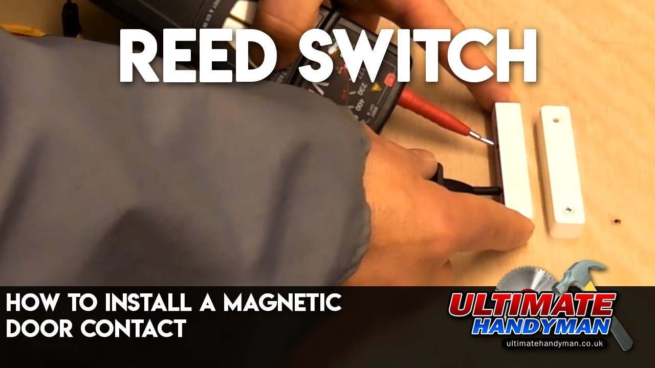 how to install a magnetic door contact reed switch youtube [ 1280 x 720 Pixel ]
