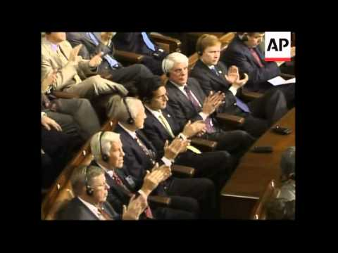 WRAP Iraqi PM Al-Maliki's speech to Congress, interrupted by heckler