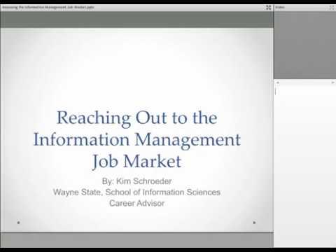 Information Management Career Advising Session - January 11, 2018