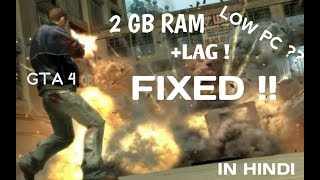 100%HOW TO FIX LAG IN GTA 4 Intel HD graphics LOW END PC IN HINDI