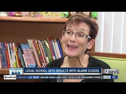 Alarm clocks improving attendance at Dean Petersen Elementary School