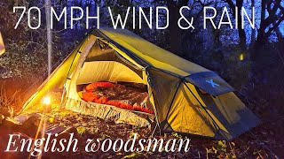 Wild camping in st๐rm ciara horrendous wind & rain - using oex phoxx ll tent and more oex equipment