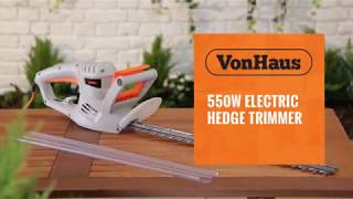 VonHaus 550W Electric Hedge Trimmer