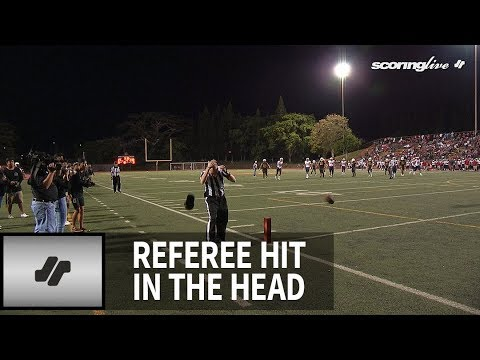 The Love Doctors - Football Ref Gets Nailed By Football Right In The Head!