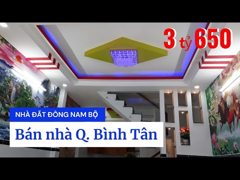 Chính chủ bán nhà quận Bình Tân dưới 4 tỷ. Nhà đẹp 1 lầu đúc thật 4x10m, hẻm 4m Đường số 14