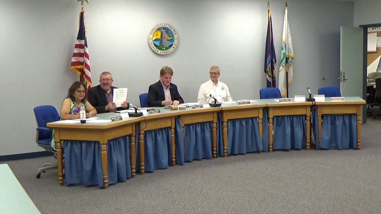 Town Of Plattsburgh Meeting  7-5-18