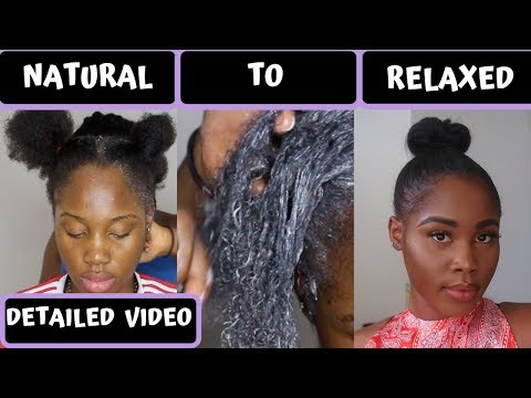 Relaxing My 4C Natural Hair After 2+ Years.... | Dark & Lovely Smooth Relaxer|  Emmanuela Okon Vlogs