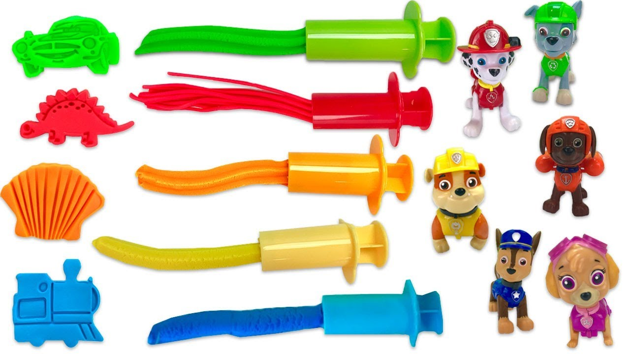 Fizzy Fun Toys: Learn Colors With Paw Patrol Play Doh Surprise With Fizzy