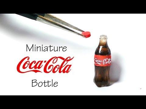Miniature Coca Cola Inspired / Soda Bottle Tutorial (Resin)