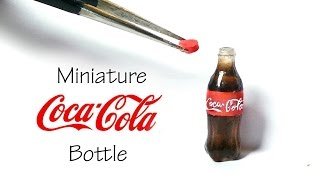 Miniature Coca Cola Inspired / Soda Bottle Tutorial (Resin)