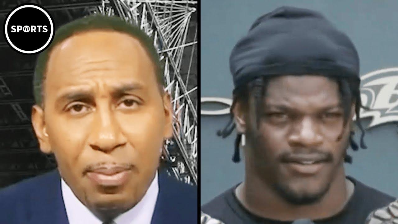 Stephen A. Smith Isn't Buying Lamar Jackson's Wording