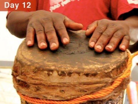 Leon Mobley MIMA Minute in Zambia; traditional rhythms and song
