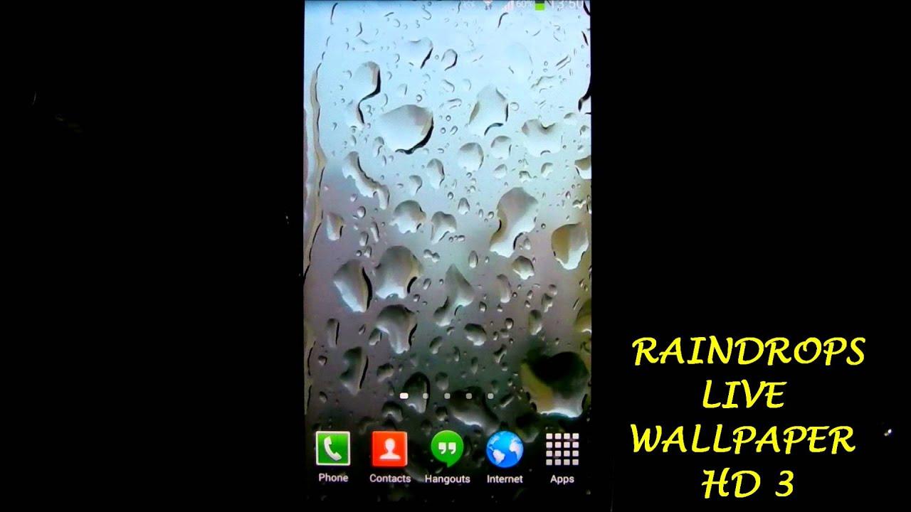 Raindrops Live Wallpaper HD 3