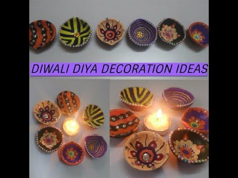 #2 DIY:Diwali Diya Decoration Ideas 2017