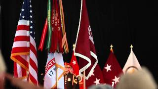Casing of the Colors at Walter Reed Medical Center