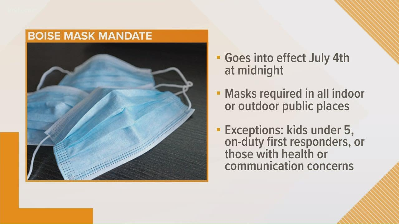 Boise mayor issues order mandating the wearing of masks