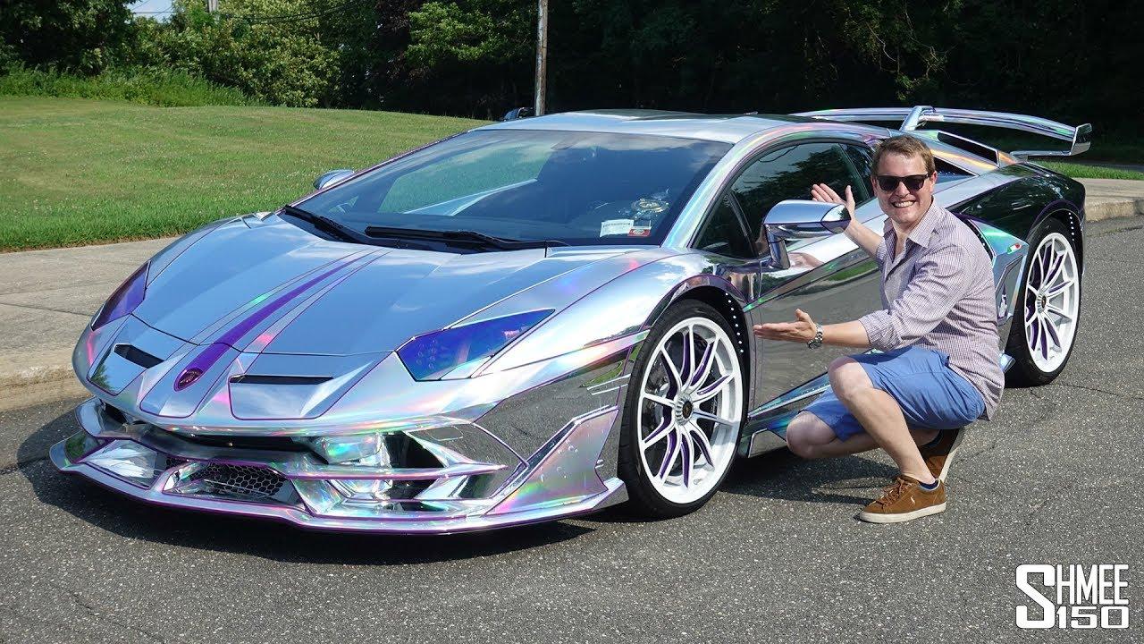 The Most ECCENTRIC Lamborghini Owner and his CHROME Aventador SVJ!