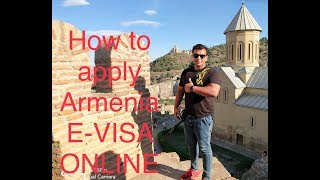 HOW TO APPLY ARMENIA E-VISA ( EUROPE ) ONLINE (  Hindi-Punjabi )