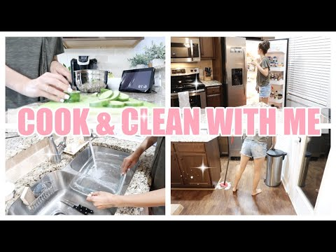 cook-and-clean-with-me-2019-//-easy-dinner-idea-//-nightly-cleaning-routine