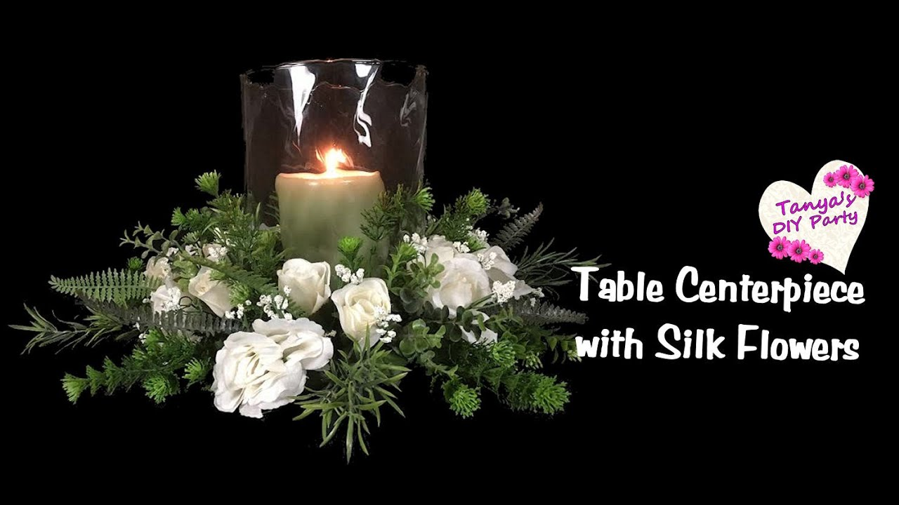 Table centerpiece with silk flowers tutorial youtube izmirmasajfo
