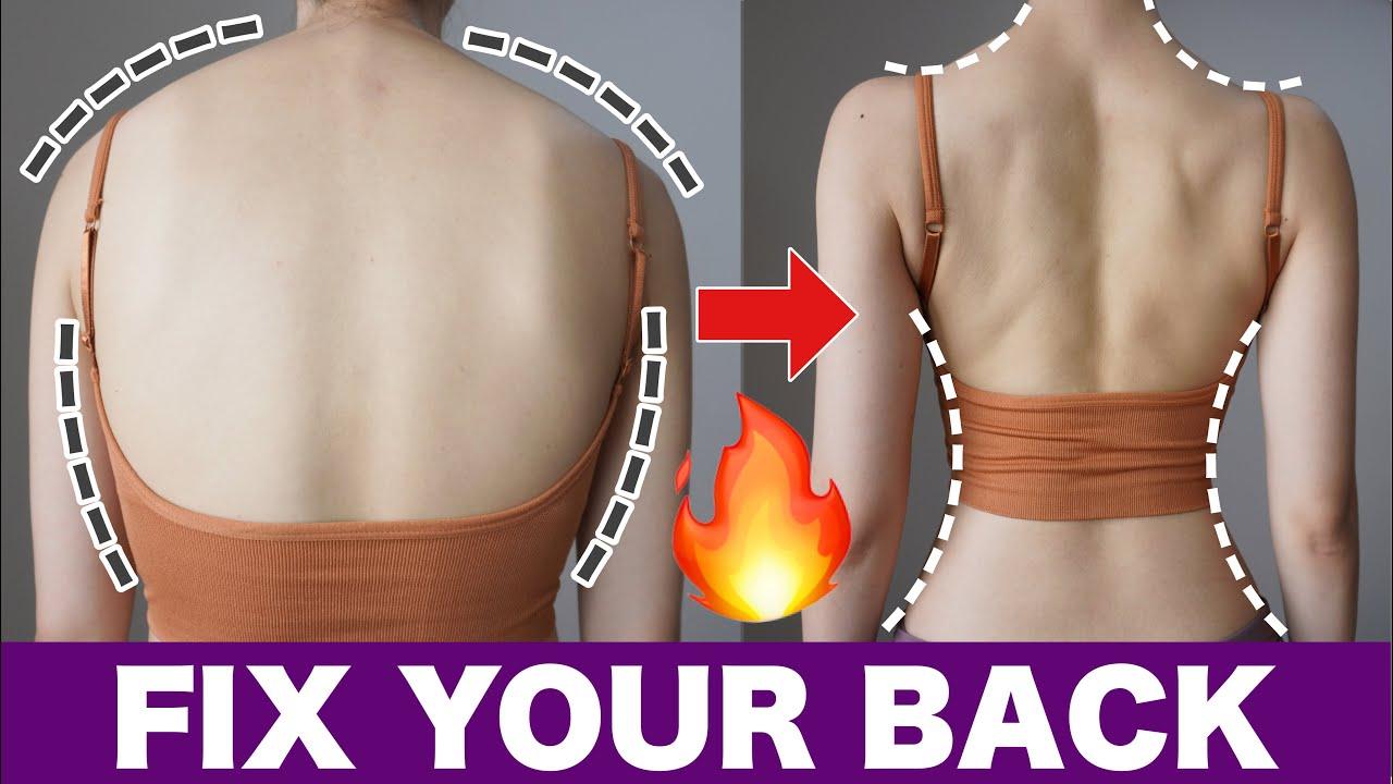 【8分】美しく引き締まった背中&姿勢をつくる!立ったまま出来る背中トレーニング
