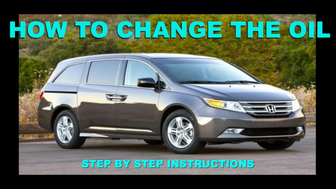 HONDA ODYSSEY OIL CHANGE TUTORIAL (2011 2016)