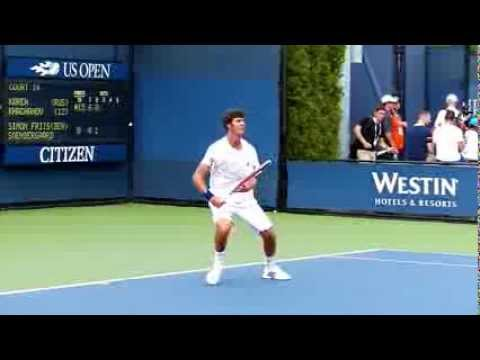 Thumbnail: Karen Khachanov - US Open juniors 2013 - Slow motion video