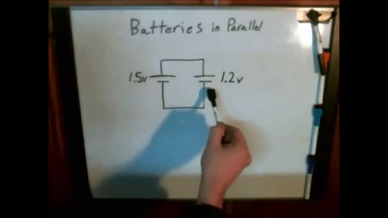 Different Batteries In Parallel Youtube 9 Volt Photocell Wiring Diagram