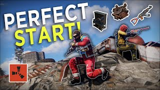 The LUCKIEST START to a PERFECT WIPE! - Rust Duo Survival #1