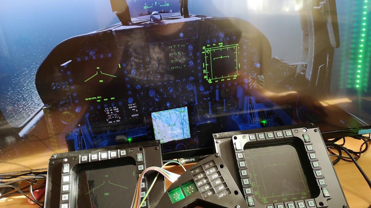 dcs P51 HYD Press servo dcs-bios home cockpit build by Eytan