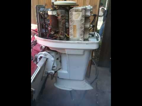 70HP Chrysler Outboard Boat Engine - YouTube