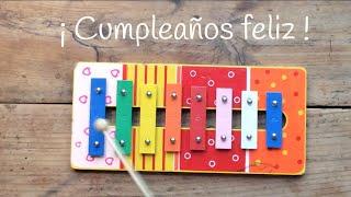 Aprende canciones con xilófono, el cumpleaños feliz