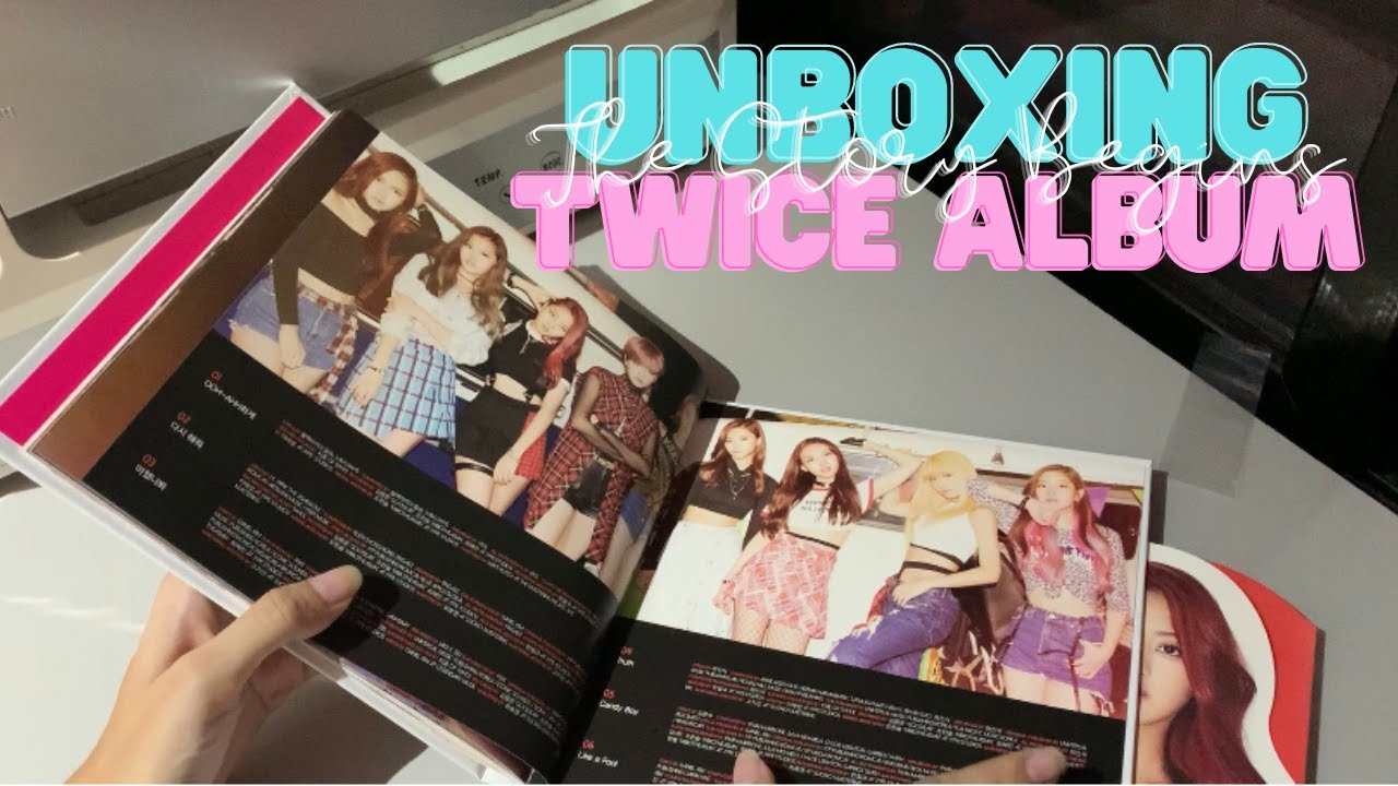 """unboxing   twice """"the story begins"""" album (x2)"""