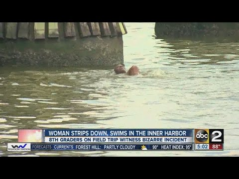 Police pull swimming, half-naked woman from Baltimore Inner Harbor