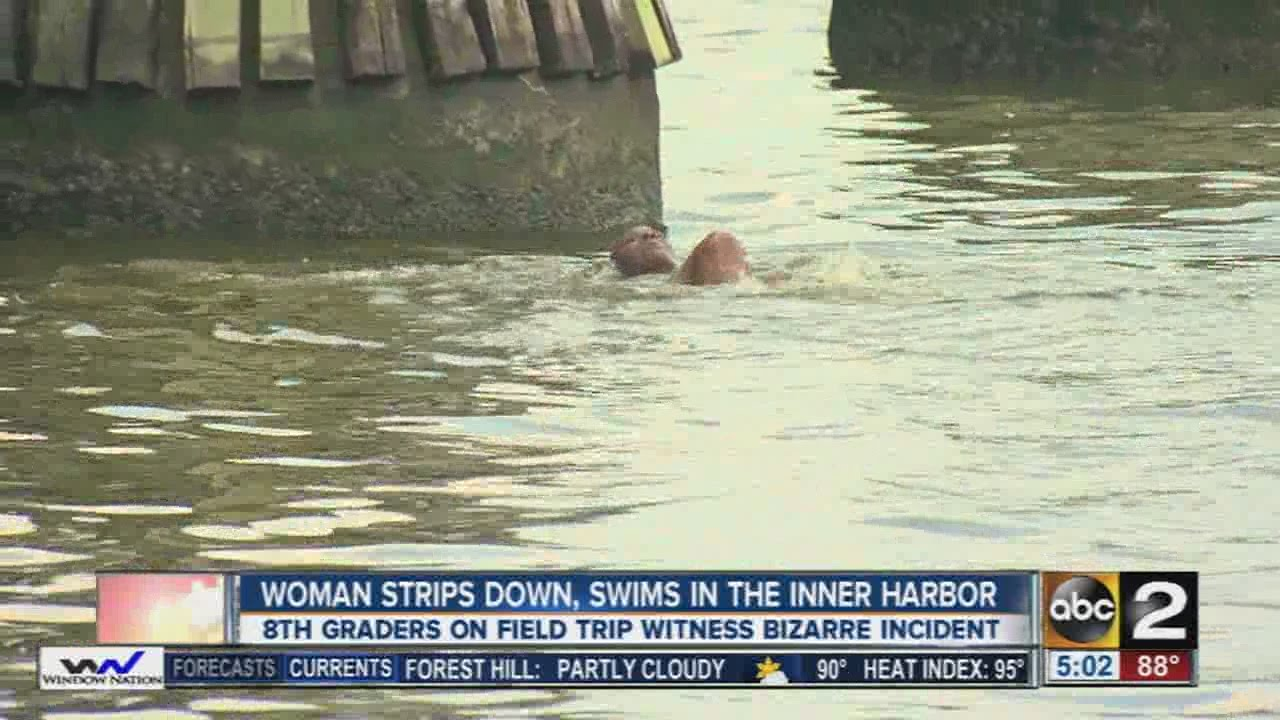 Police Pull Swimming, Half-Naked Woman From Baltimore -4102