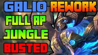 Galio Rework Jungle FULL AP BUSTED | 2017 Rework | League of Legends 7.6 | Patch 7.6 PBE
