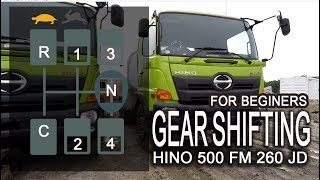 HINO 500 gear shifting tutorial