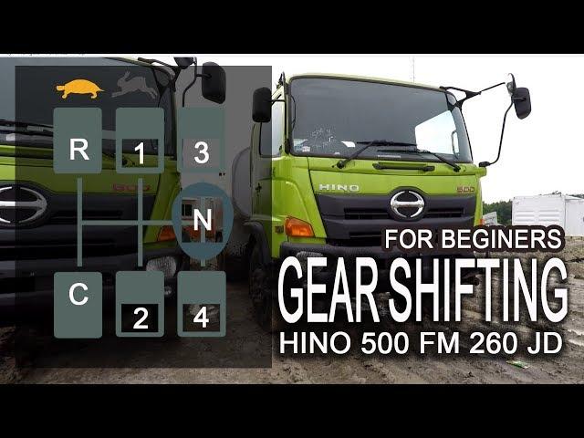 HINO 500 gear shifting tutorial