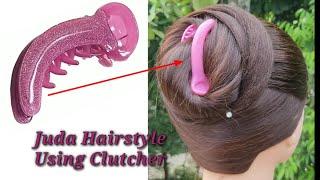 Everyday Juda Hairstyle Using Clutcher || Easy Bun Hairstyle || Hair Style Girl ||
