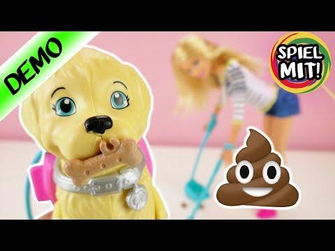 Barbie mit Hund | Ist er Stubenrein? | Hund kann laufen und kacken | Barbie macht alles sauber!